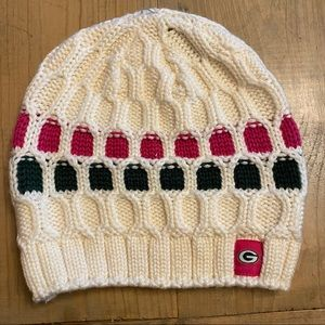 Pink & Green Green Bay Packers Beanie
